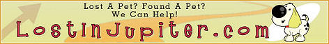 LostInJupiter.com - FREE Lost and Found Pet Directory